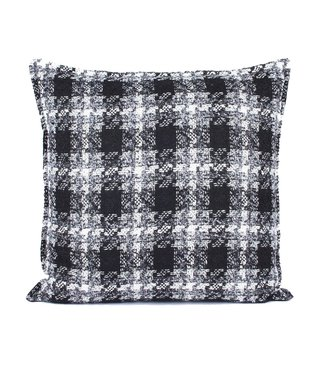 Throw Pillow 60x60 cm  -Bouclé - Lancelot - Black