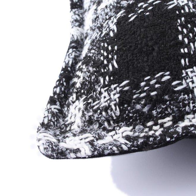 Throw Pillow 60x60 cm  -Bouclé - Lancelot - Black