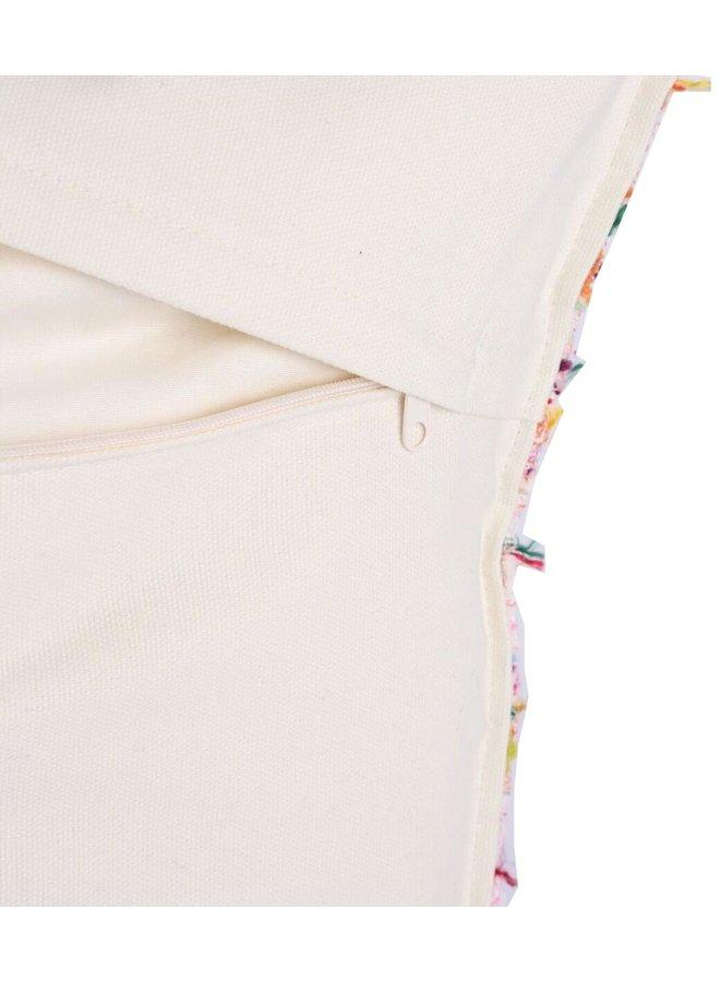 Throw Pillow 45x45 cm  -  Kate - Bouclé- Loosely woven fabric - pink