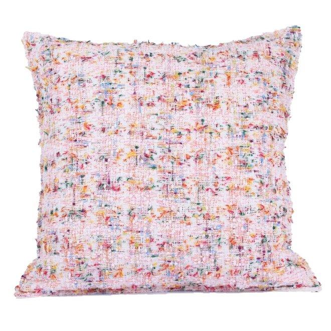 Sierkussen 45x45 cm  -  Kate - Bouclé - Los geweven stof - roze