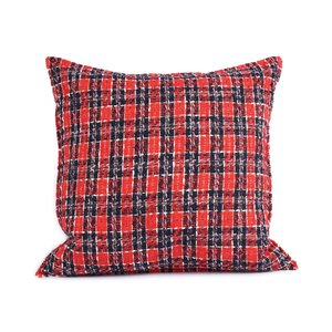 Throw Pillow 45x45 cm  - bouclé - Charlie - Red