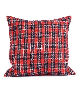 Throw Pillow 45x45 cm  - bouclé - Charlie - Red