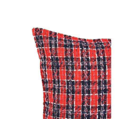 Sierkussen 45x45 cm  -bouclé - Charlie - rood