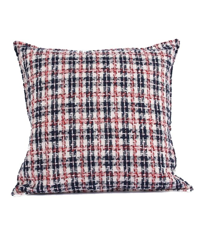 Throw Pillow 45x45 cm  - bouclé -James - blue