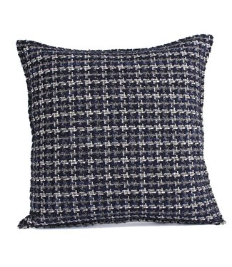 Throw Pillow 45x45 cm  - bouclé - Lesley - Blue