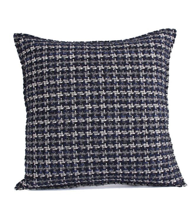 Throw Pillow 45x45 cm  - bouclé - Lesley - Blue