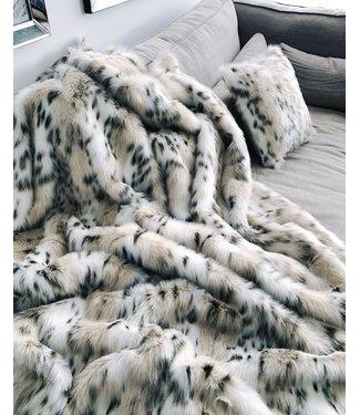 Imitatiebont plaid -200x140 cm -  Indigo Island Amsterdam - Faux Fur - Lynx