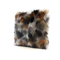 Sierkussen imitatiebont - 45x45cm - Indigo Island Amsterdam - Faux Fur - Gold & copper