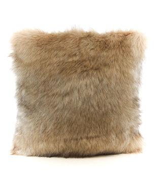 Sierkussen imitatiebont -45x45cm- Indigo Island Amsterdam - Faux Fur - Siberian Beige/Gold