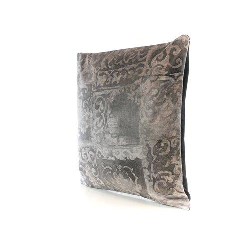 Throw Pillow 45x45 cm -  Barok velvet grey
