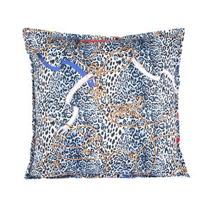Throw Pillow 45x45 cm  - Layton leopard - Blue