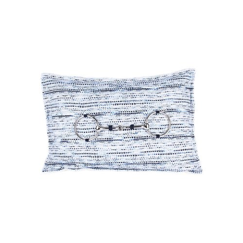 Throw Pillow 30x50  cm  - Bouclé Horse bit - Hope -Zilver