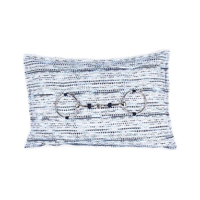 Sierkussen 30x50 cm - Bouclé Paardenbit - Hope - Zilver