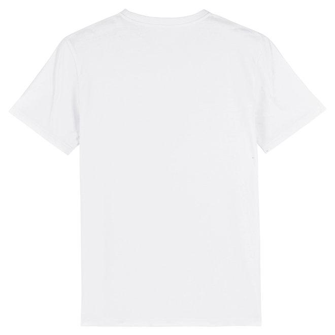 T-shirt Indigo Embleem - Navy flock - wit