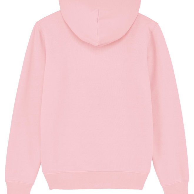 Premium Hoodie - Signature teddy denim - Cotton pink