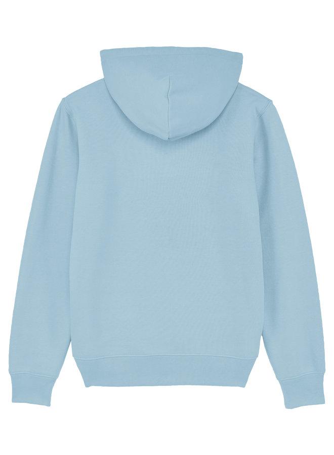 Premium Hoodie -  Indigo embleem - baby Blauw