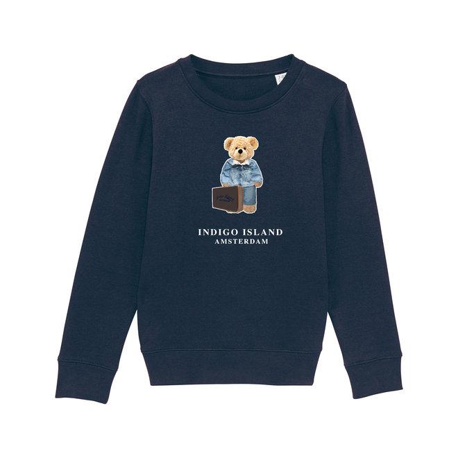 KIDS  Sweater - Premium Pullover-Signature Teddy Denim travel - Navy