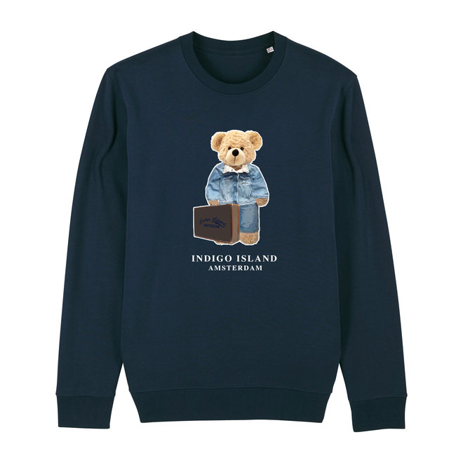 Sweater - Premium Pullover-  Signature teddy Denim travel - Navy