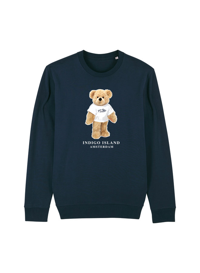 Sweater - Premium Pullover-  Signature teddy met TEE - Navy