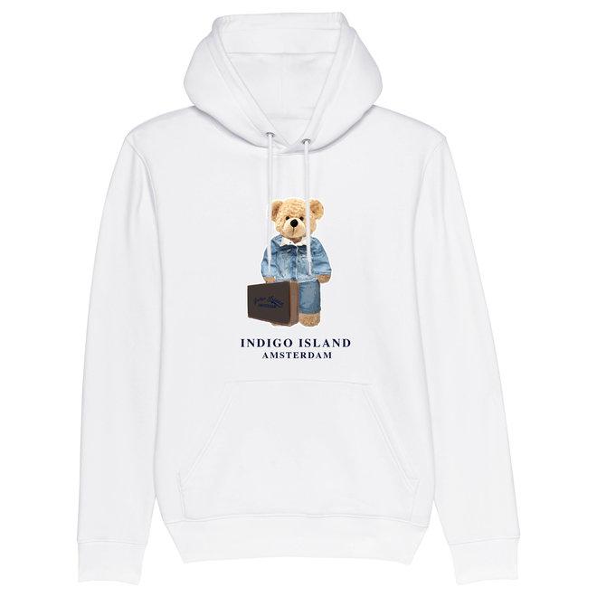 Premium Hoodie -Signature teddy Denim travel - wit