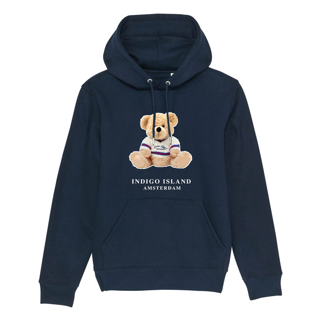 Premium Hoodie -Signature teddy- Navy