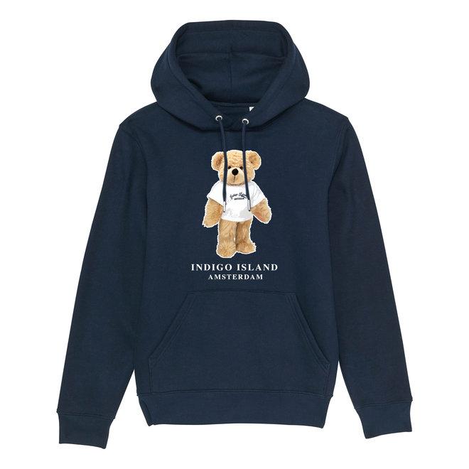 Premium Hoodie -Signature teddy met TEE - Navy