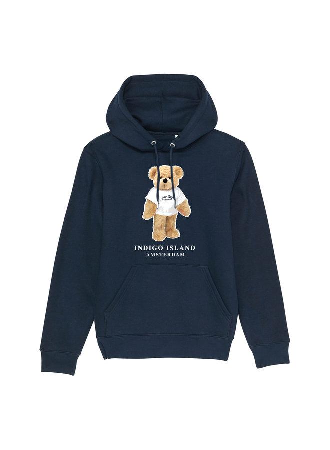 Premium Hoodie - Signature teddy met TEE - Navy