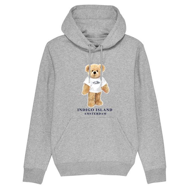 Premium Hoodie - Signature Teddy  met TEE - Heather grey