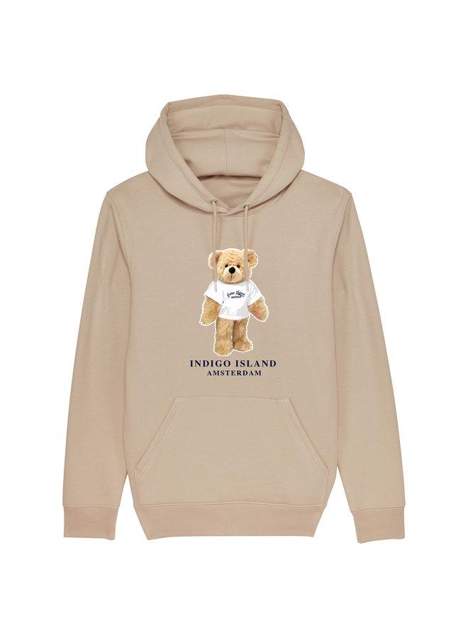 Premium Hoodie -Signature Teddy met TEE- Desert dust