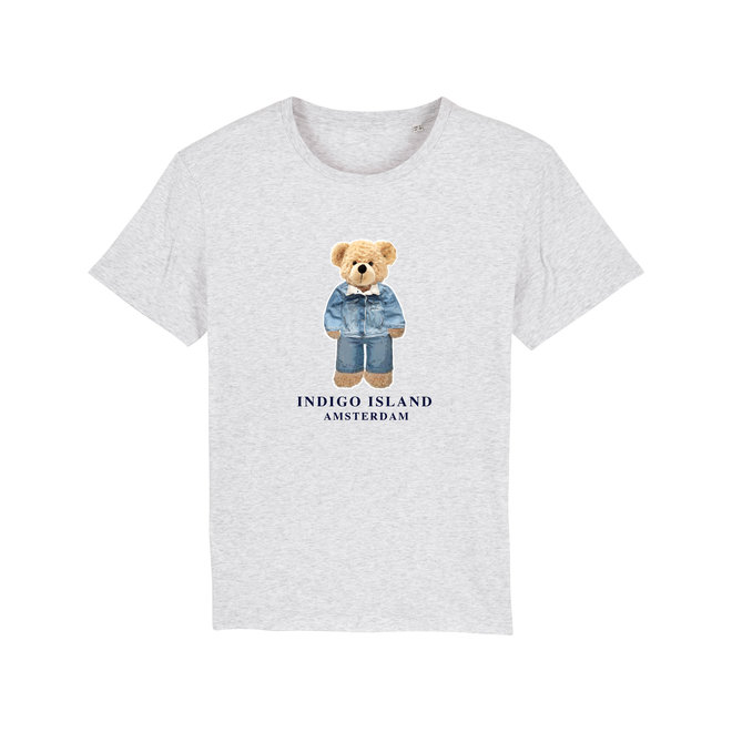 T-shirt - Signature Teddy Denim- Heather grey