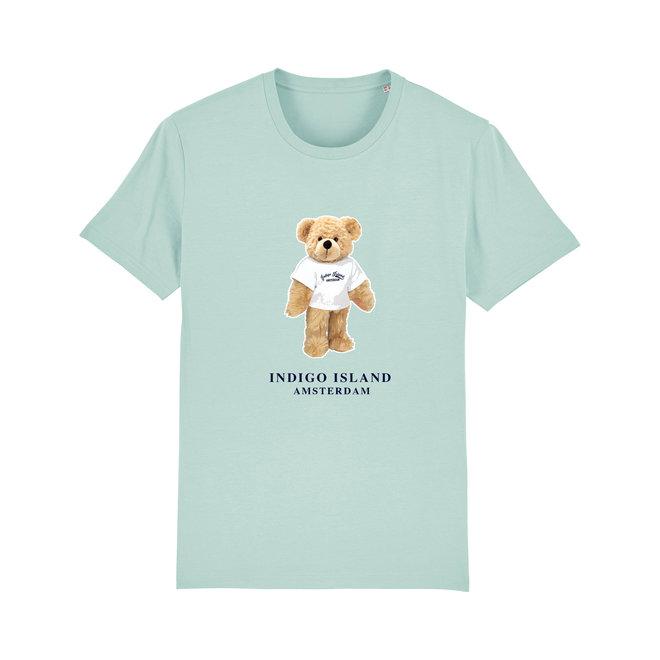 T-shirt - Signature Teddy met TEE - Carribean  blue