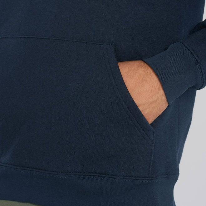 Premium Hoodie - Signature teddy Denim- Navy