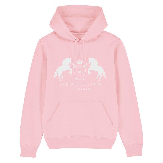 Premium Hoodie -  Signature embleem - Cotton pink