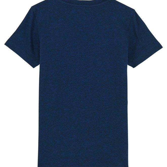 KIDS  Premium  TEE- T'shirt -Navy - Signature teddy Denim - Navy