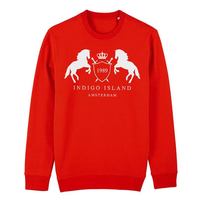 Sweater - Premium Pullover-  Signature embleem - Red