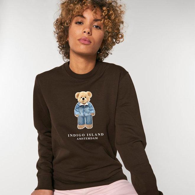 Sweater - Premium Pullover-   Signature teddy Denim - Chocolate