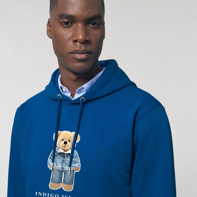 Premium Hoodie -  Signature teddy Denim - Majorelle Blue