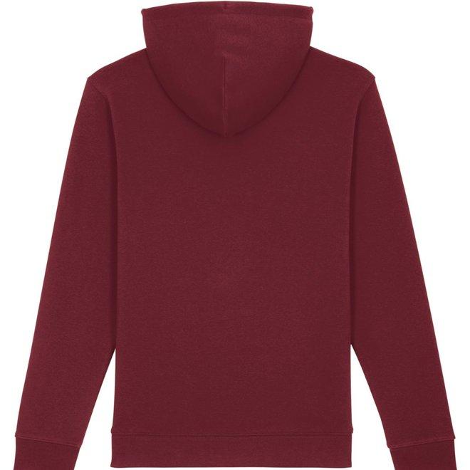 Premium Hoodie -  Signature teddy  - Burgundy Red