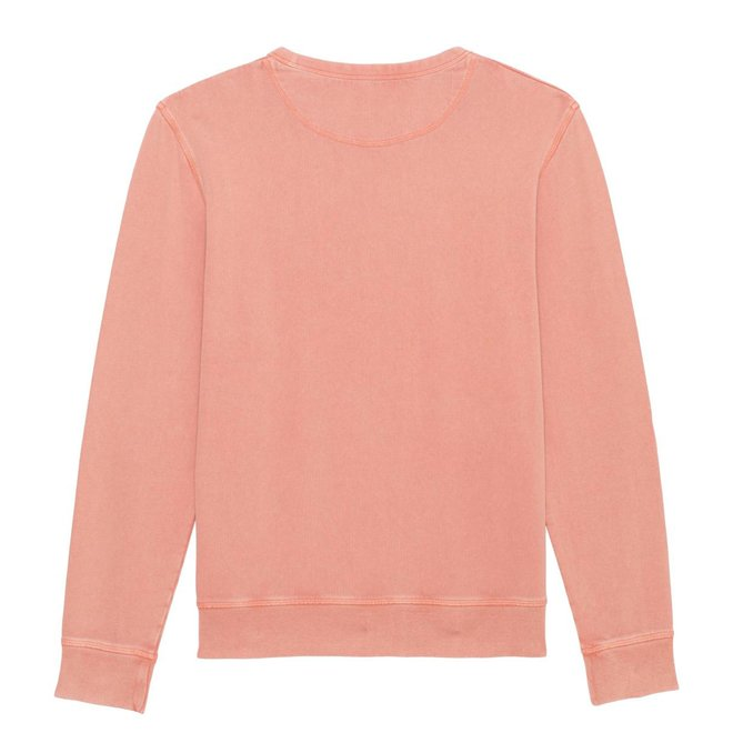 Vintage Sweater - Premium Pullover-  Signature Teddy Denim - Old pink Vintage dyed Rose Clay