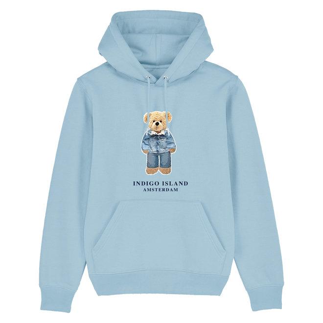 Premium Hoodie -Signature Teddy Denim  - baby blauw