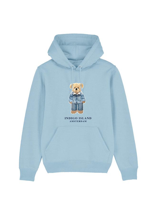 Premium Hoodie - Signature Teddy Denim  - baby blauw