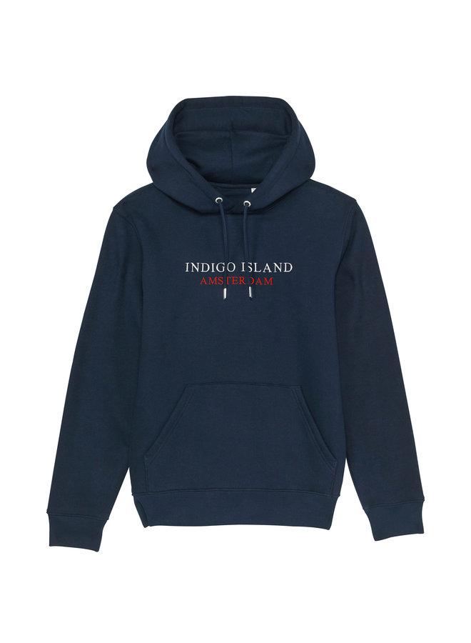 Premium embroidered Hoodie -  Indigo Island Amsterdam