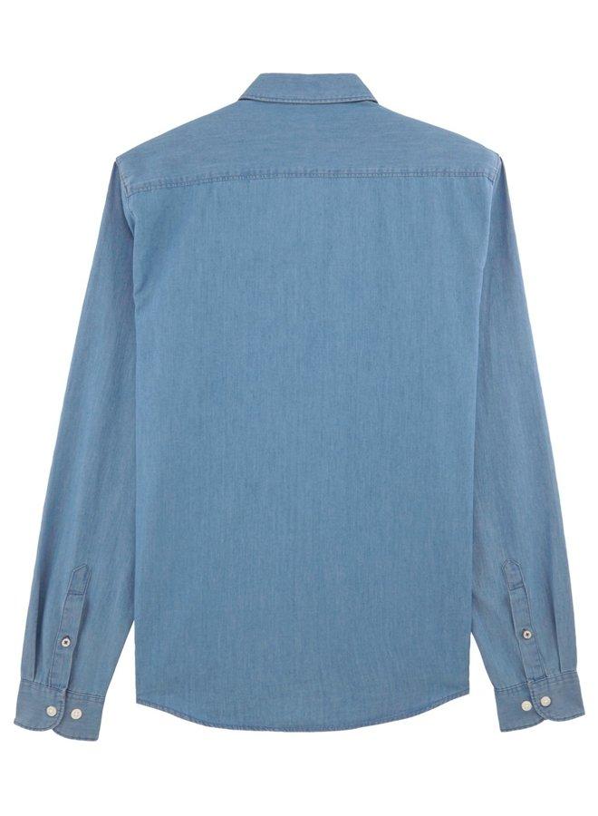 Heren hemd - Light indigo Denim