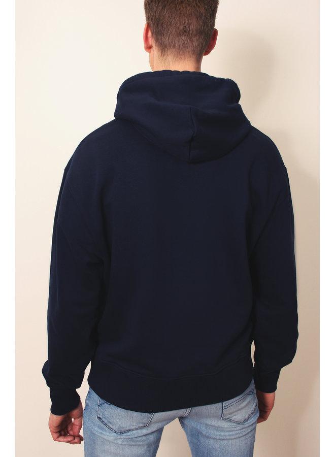 Heavy Oversized Sweater - Premium Hoodie - Signature embleem - Navy