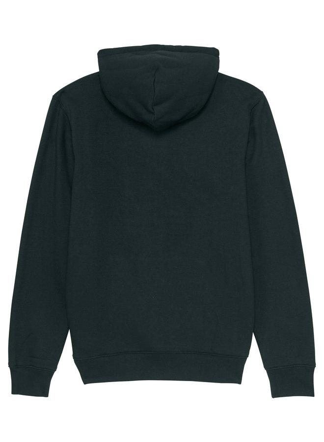 Premium Hoodie -Signature Teddy in denim- black
