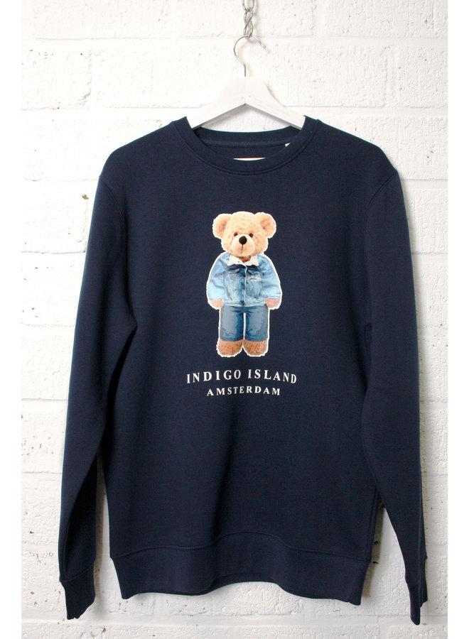 Sweater - Premium Pullover-   Signature teddy Denim  - Navy