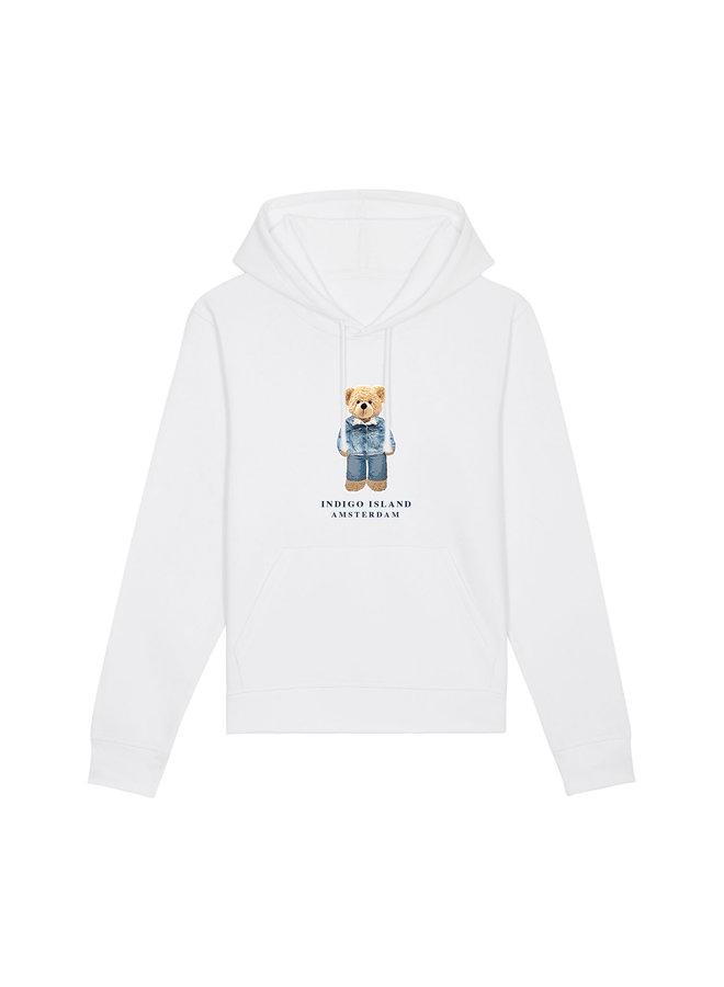 ESSENTIAL Hoodie - Signature Teddybear in denim outfit - wit