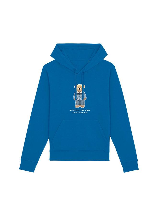 ESSENTIAL Hoodie - Signature Teddybear in denim outfit - Royal blue