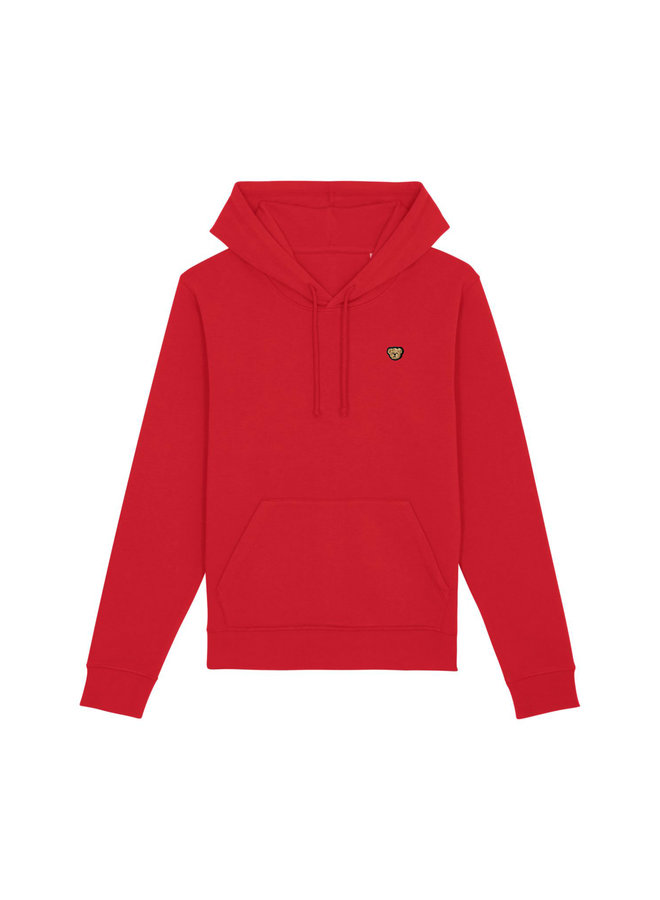 ESSENTIAL Hoodie - Signature Teddybear embroidery - Red