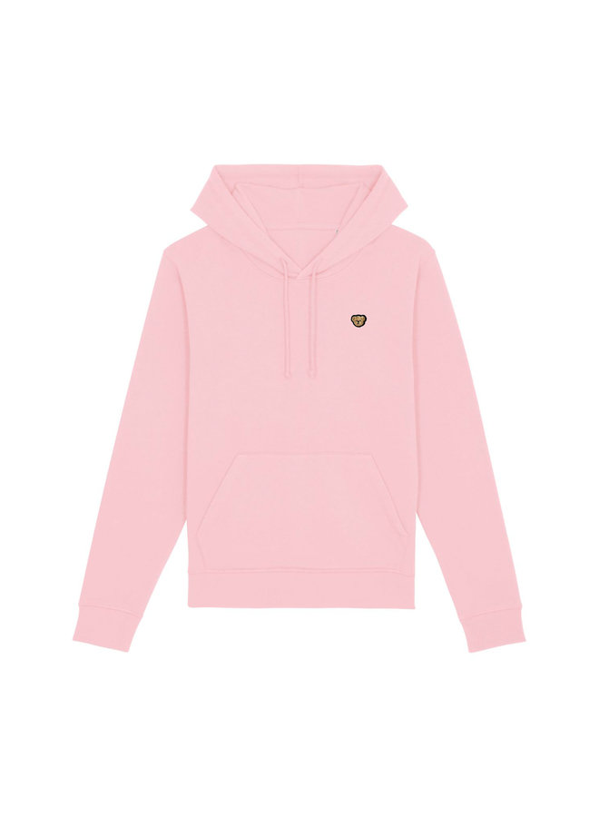 ESSENTIAL Hoodie - Signature Teddybear embroidery - Cotton pink
